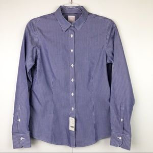 Brooks Brothers Blue Striped Button Down Shirt
